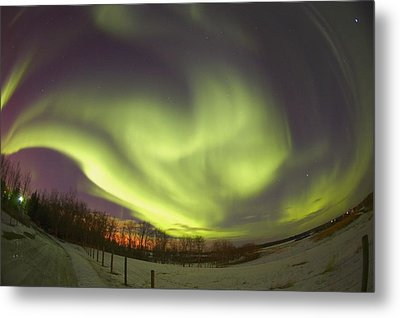 Northern Lights, Edmonton, Alberta Metal Print by Carson Ganci