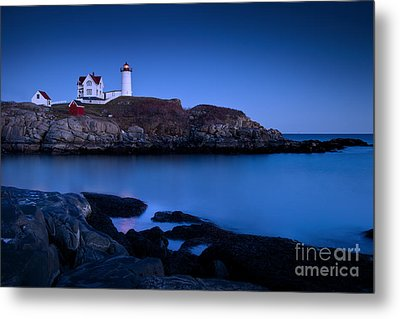 Nubble Lighthouse Metal Print by Brian Jannsen