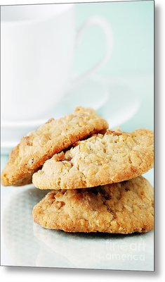 Oatmeal Cookies Metal Print by HD Connelly