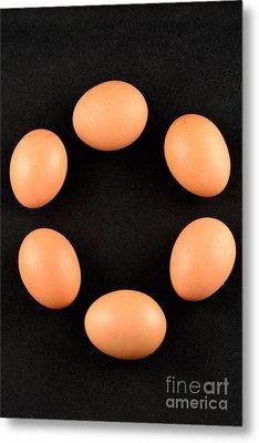 Organic Eggs Metal Print by George Atsametakis