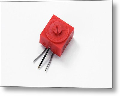 Pcb Potentiometer Metal Print by Trevor Clifford Photography