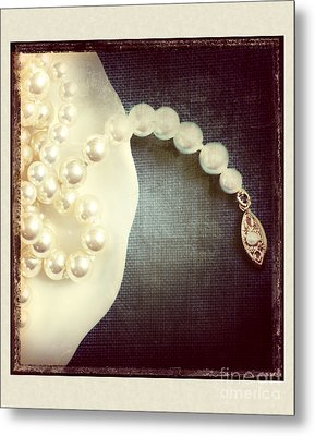 Pearls Metal Print by HD Connelly