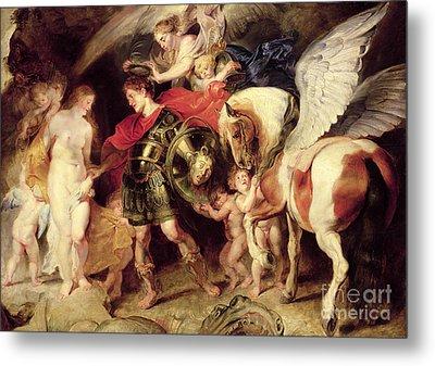 Perseus Liberating Andromeda Metal Print by Peter Paul Rubens