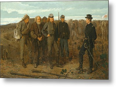 Prisoners From The Front Metal Print by Winslow Homer