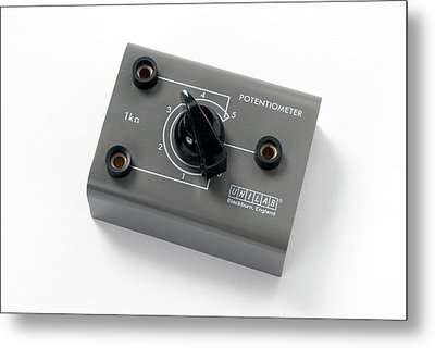 Rotary Potentiometer Metal Print by Trevor Clifford Photography