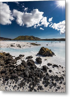 Silica Deposits In Water By The Metal Print by Panoramic Images