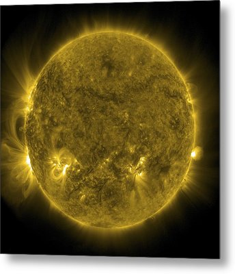 Solar Activity, Sdo Ultraviolet Image Metal Print by Science Photo Library