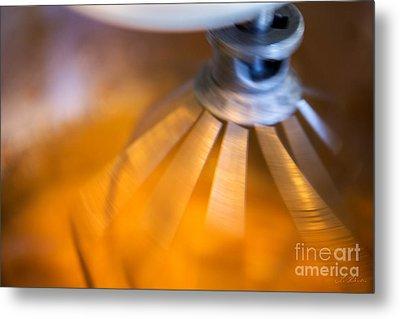Spinning Mixer Metal Print by Iris Richardson
