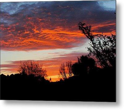 Sunset New Zealand Metal Print by Joyce Woodhouse