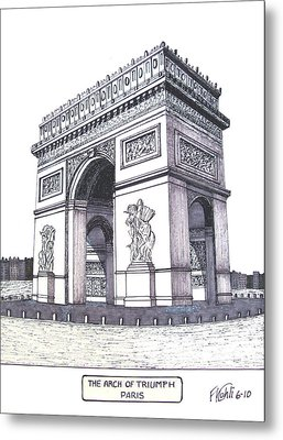 The Arch Of Triumph Metal Print by Frederic Kohli