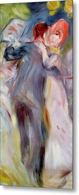 The Dance In The Country Metal Print by Pierre Auguste Renoir