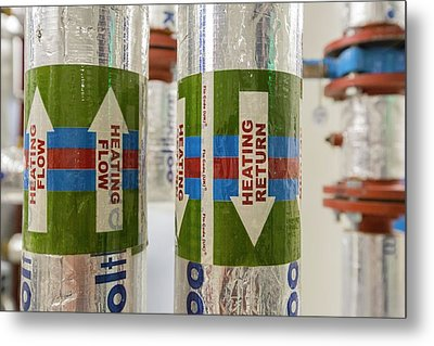 The Ground Source Heat Pump System Metal Print by Ashley Cooper