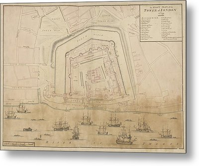 The Tower Of London Metal Print by British Library