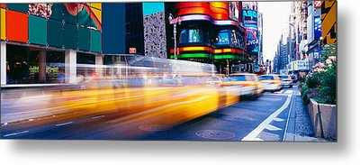 Times Square, Nyc, New York City, New Metal Print by Panoramic Images