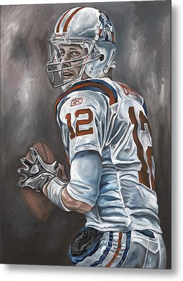 Tom Brady Metal Print by David Courson