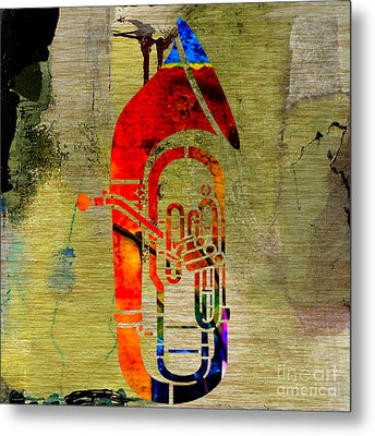 Tuba Metal Print by Marvin Blaine