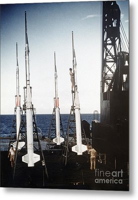 Us Navy Rockets 1958 Metal Print by Granger