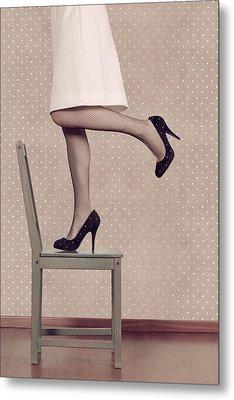 Woman On Chair Metal Print by Joana Kruse