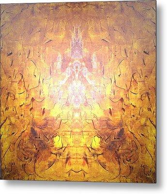 Yellow Metal Print by Pirsens Huguette