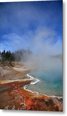 Yellowstone Park Geyser Metal Print by Frank Romeo