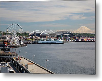 Wa, Seattle, The Seattle Great Wheel Metal Print by Jamie and Judy Wild