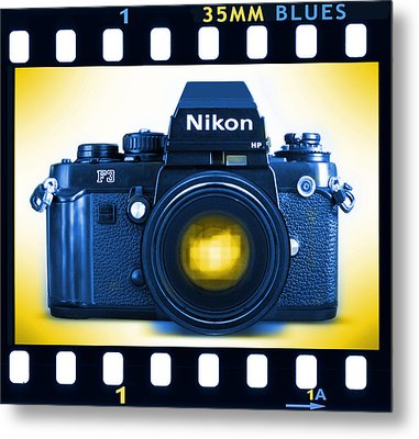 35mm Blues Nikon F-3hp Metal Print by Mike McGlothlen