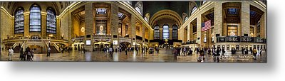 360 Panorama Of Grand Central Terminal Metal Print by David Smith