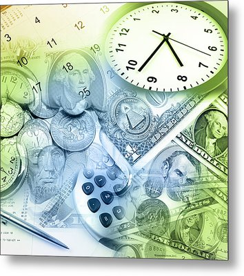 Time Is Money  Metal Print by Les Cunliffe