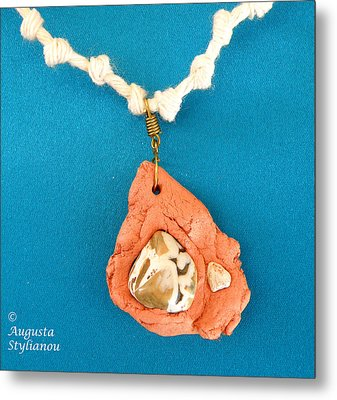 Aphrodite Gamelioi Necklace Metal Print by Augusta Stylianou