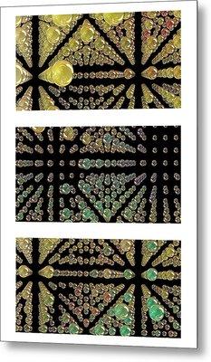 3d Spheres Metal Print by Susan Leggett
