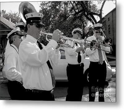 3rd Line Brass Band Second Line Metal Print by Renee Barnes