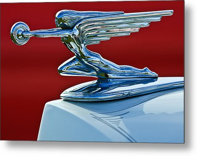 1936 Packard Hood Ornament Metal Print by Jill Reger
