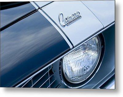 1969 Chevrolet Camaro Z-28 Emblem Metal Print by Jill Reger