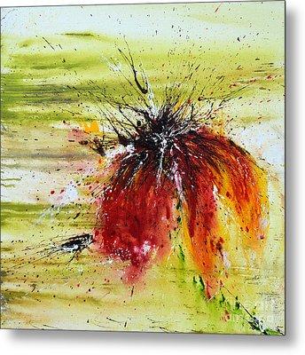 Abstract Flower Metal Print by Ismeta Gruenwald
