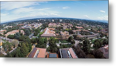 Aerial View Of Stanford University Metal Print by Panoramic Images