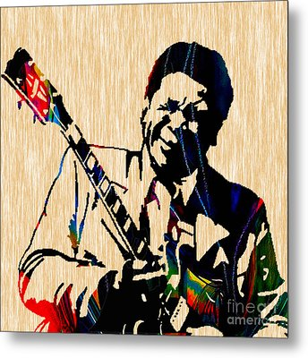 Bb King Collection Metal Print by Marvin Blaine