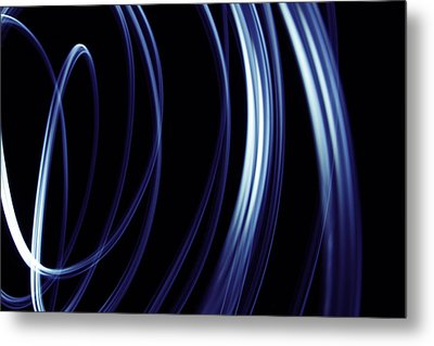 Blue Lines  Metal Print by Les Cunliffe