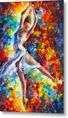 Candle Fire Metal Print by Leonid Afremov