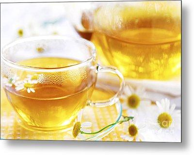 Chamomile Tea Metal Print by Elena Elisseeva