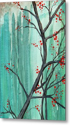 Cherry Tree  Metal Print by Carrie Jackson