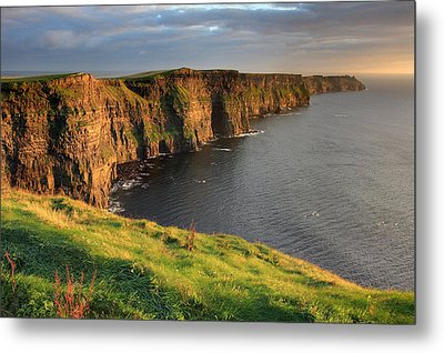 Cliffs Of Moher Sunset Ireland Metal Print by Pierre Leclerc Photography