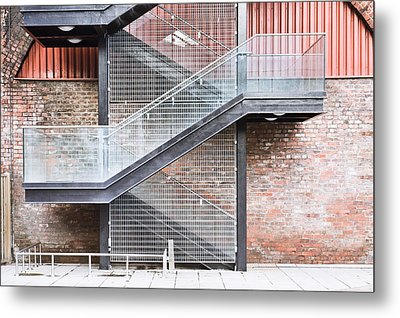 Exterior Stairs Metal Print by Tom Gowanlock