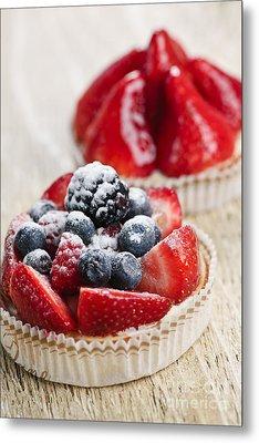 Fruit Tarts Metal Print by Elena Elisseeva