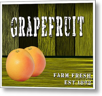 Grapefruit Metal Print by Marvin Blaine