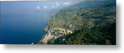 High Angle View Of A Village Metal Print by Panoramic Images