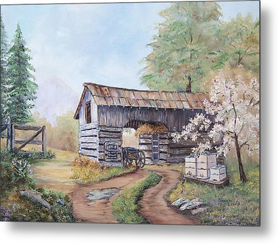 Barn At Cades Cove Metal Print by Frances Lewis