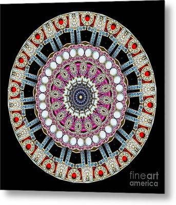 Kaleidoscope Colorful Jeweled Rhinestones Metal Print by Amy Cicconi