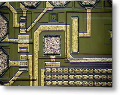 Microchip Surface Metal Print by Frank Fox