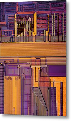 Microprocessor Components Metal Print by Antonio Romero