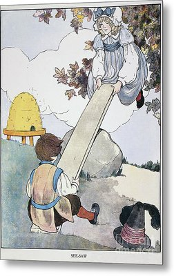 Mother Goose, 1916 Metal Print by Granger